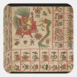 Códice azteca Borbonicus Calcomanías Cuadradas