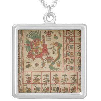 Códice azteca Borbonicus Collar Plateado