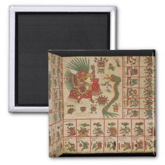 Códice azteca Borbonicus Imán Cuadrado