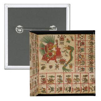Códice azteca Borbonicus Pin Cuadrado