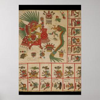 Códice azteca Borbonicus Póster