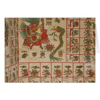 Códice azteca Borbonicus Tarjeta De Felicitación