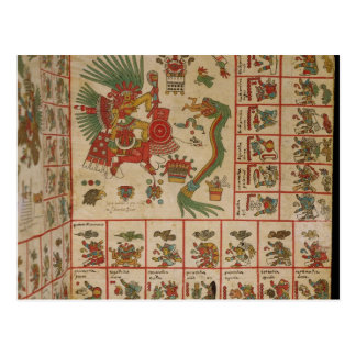 Códice azteca Borbonicus Tarjeta Postal