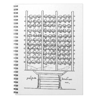 Códice Duran del estante del cráneo de Tzompantli Libro De Apuntes Con Espiral