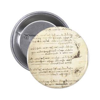 Códice en el vuelo de pájaros de Leonardo da Vinci Pins