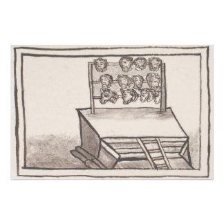 Códice florentino del estante del cráneo de cojinete