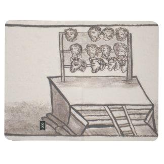 Códice florentino del estante del cráneo de cuaderno grapado