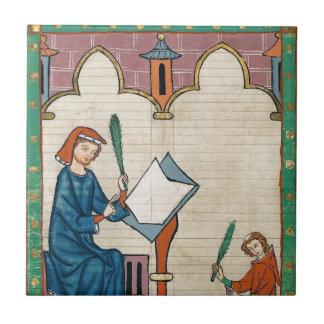 Códice Manesse, 1300s Azulejo Cuadrado Pequeño