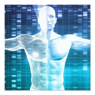 """Codificación de la DNA y código genético como Invitación 5.25"""" X 5.25"""""""