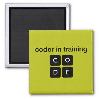 Codificador en el entrenamiento imán cuadrado
