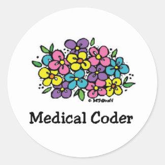 Codificador médico Blooms1 Pegatina Redonda