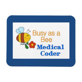 Codificador médico de la abeja ocupada imán rectangular