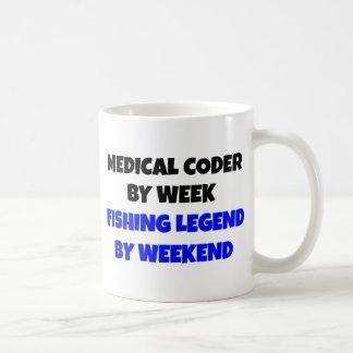 Codificador médico de la leyenda de la pesca tazas