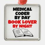Codificador médico del aficionado a los libros ornamento de navidad