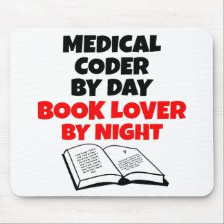 Codificador médico del aficionado a los libros tapetes de raton