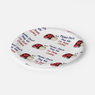 Codificador médico Ladybug2 Plato De Papel De 7 Pulgadas