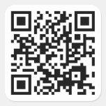 código adaptable de QR Calcomanías Cuadradas Personalizadas