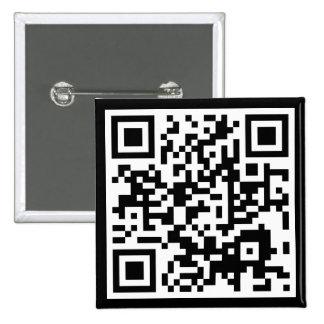 código adaptable de QR Pin Cuadrada 5 Cm