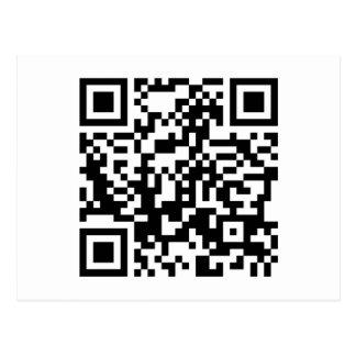 código adaptable de QR Tarjetas Postales