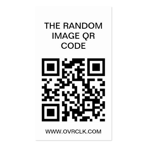 Código al azar de la imagen QR Tarjeta De Visita