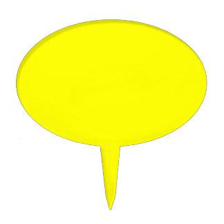 Código amarillo de neón FFFF01 del maleficio Figuras De Tarta