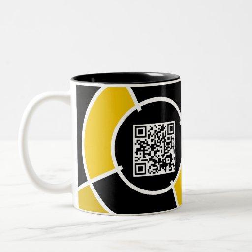 código anaranjado de la diana QR Taza De Café