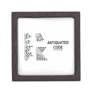 Código anticuado código Morse internacional Caja De Joyas De Calidad