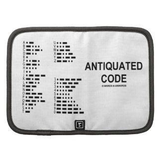Código anticuado (código Morse internacional) Planificadores