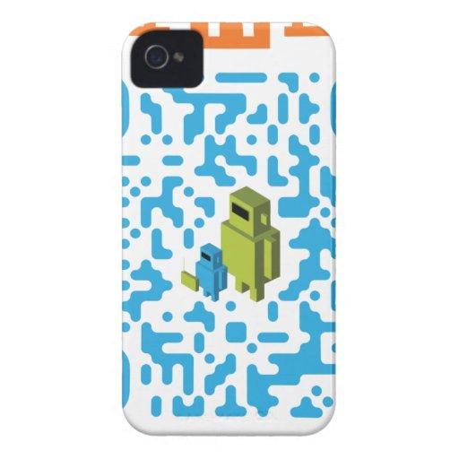 Código atado con alambre del papá QR del friki Case-Mate iPhone 4 Cárcasa