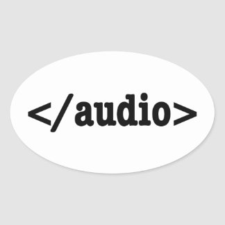 Código audio HTML5 del final Pegatina Ovalada