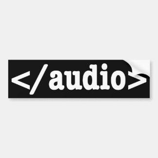Código audio HTML5 del final Pegatina Para Auto