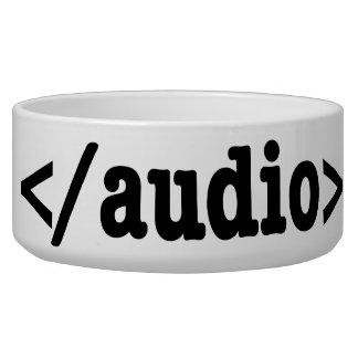 Código audio HTML5 del final Tazón Para Perro