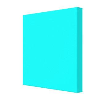 Código azul claro de neón 00ffff del maleficio impresiones en lona estiradas