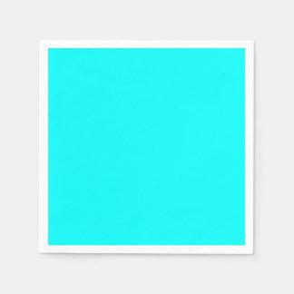 Código azul claro de neón 00ffff del maleficio servilleta de papel