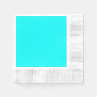 Código azul claro de neón 00ffff del maleficio servilletas desechables