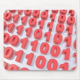 código binario 3D Alfombrillas De Ratón