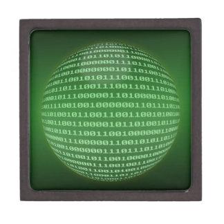 Código binario cajas de recuerdo de calidad