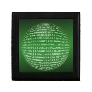 Código binario caja de regalo