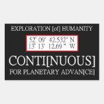 Código binario de Rendlesham de la humanidad de la Rectangular Pegatina