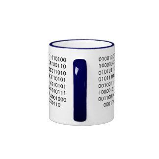 Código binario del friki si usted puede leer esto taza de café