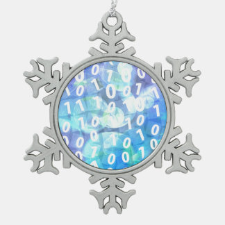 Código binario en azul y púrpura adorno