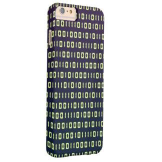 Código binario iPhone6 más los casos Funda Barely There iPhone 6 Plus