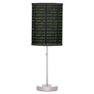 Código binario lámpara de escritorio