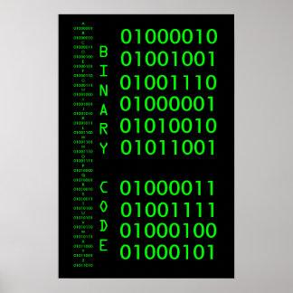 Código binario poster