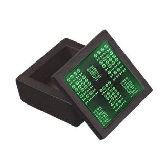 Código binario para el FRIKI Caja De Recuerdo De Calidad
