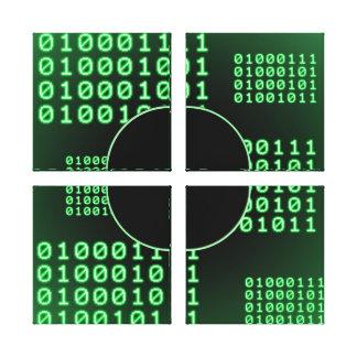 Código binario para el FRIKI Lona Envuelta Para Galerias