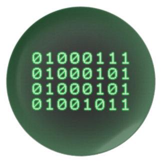 Código binario para el FRIKI Plato Para Fiesta
