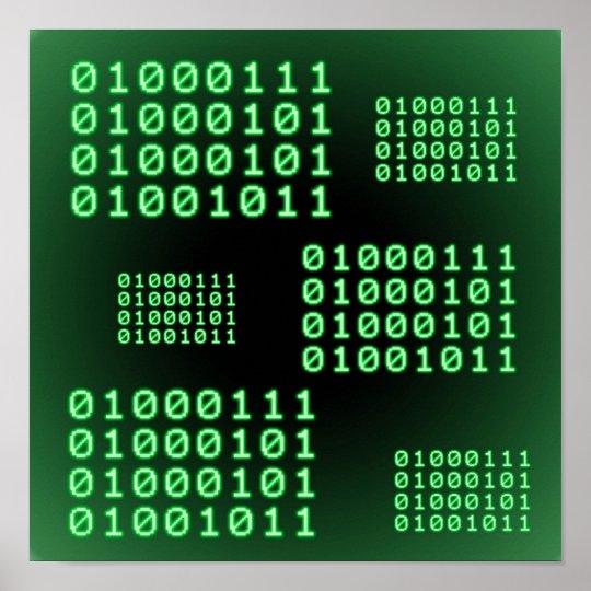 Código binario para el FRIKI Póster