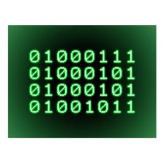Código binario para el FRIKI Tarjetas Postales