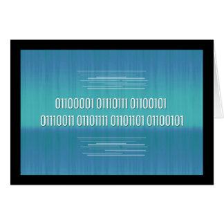 Código binario para la tarjeta de cumpleaños